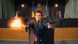 Comediantul Volodimir Zelenski într-unul din filmele sale