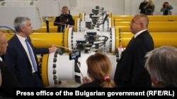Premierul bulgar Boiko Borisov inaugurând o primă etapă a gazoductului Turkish Stream. 21 octombrie 2019