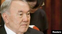 Президент Казахстана Нурсултан Назарбаев в ходе своего визита в Китай. Пекин, 22 февраля 2011 года.