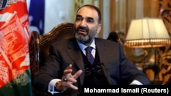 Atta Mohammad Noor, governor of Balkh Province, speaks during an interview in Kabul in January.