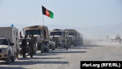 An Afghan National Army (ANA) convey in Kunduz, July 19.