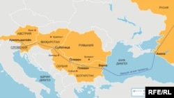 Harta që ka bërë Rusia për Rrjedhën e Jugut