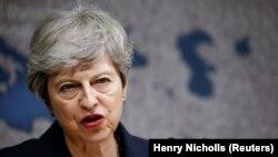 Kryeministrja në shkuarje e Britanisë, Theresa May.