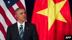 Վիետնամ - ԱՄՆ նախագահ Բարաք Օբաման Հանոյում ասուլիսի ժամանակ, 23-ը մայիսի, 2016թ․