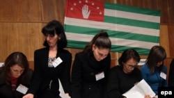 Подсчет голосов на выборах президента самопровозглашенной республики Абхазия