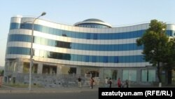 Nagorno-Karabakh - A commercial bank office in Stepanakert, 8Jul2011.