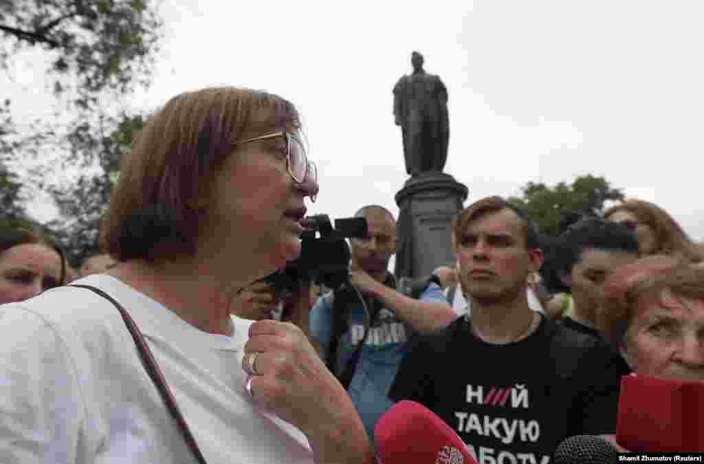 «Ничего бы не получилось, если бы не бесконечные акции солидарности», – сказала руководитель «Медузы» Галина Тимченко о марше
