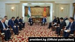 Қырғызстан мен Өзбекстан басшыларының кездесуі. Бішкек, 5 қыркүйек 2017 жыл