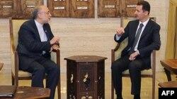 Сирискиот претседателот Башар ал Асад и иранскиот министерот за надворешни работи Али Акбар Салехи