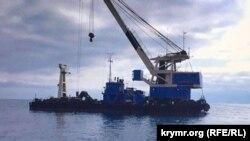 Морской плавкран «Черноморец-27», архивное фото