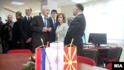 Zvanično otvaranje ruskog centra u Skoplju u prisustvu rektora Velimira Stojkovskog, ministarke kulture Elizabete Kanečeske Mileske i ambasadora Rusije Olega Nikolajeviča Ščerbaka