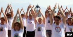 Obeležavanje Svetskog dana joge u Skoplju