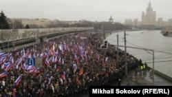 Траурное шествие памяти Бориса Немцова (Москва, 1 марта 2015 года)