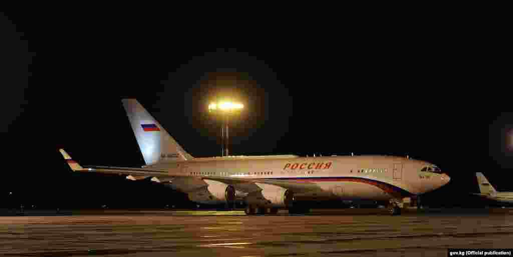 The plane of the president of the Russian Federation Vladimir Putin - Bishkek - 14.04.2017