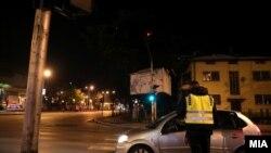 Полициски час во Скопје