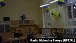 Ученици во кабинетот за роботика