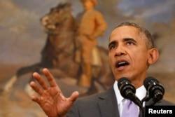 Барак Обама выступает в Конгрессе по поводу применения военной силы против ИГИЛ, 11 февраля 2015