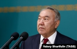Former Kazakh President Nursultan Nazarbaev (file photo)