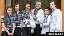 Президент Петро Порошенко із родиною (архівне фото)