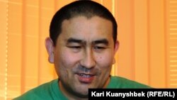 Правозащитник Амангельды Шорманбаев. Алматы, 14 января 2015 года.