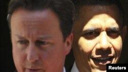 Премьер-министр Дэвид Кэмерон жана президент Барак Обама. Лондон, 25-май