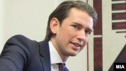 Австрискиот министер за надворешни работи, Себастијан Курц