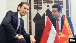 Сојузниот министер за Европа, интеграција и надворешни работи на Република Австрија, Себастијан Курц во посета на Република Македонија. Курц се сретна со министерот за надворешни работи Никола Попоски.