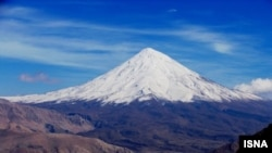 Damavand Mountain, a sleeping volcano in Iran.