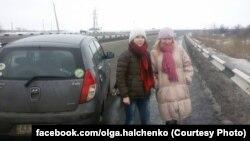 Вольга Гальчэнка, справа