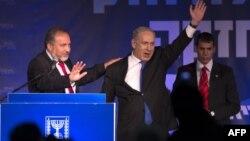 2013-cü il seçkisində Benjamin Netanyahu Avigdor Lieberman-la birgə qələbə qaznıb