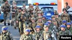 Машыгууга катышуучу АКШ-Түштүк Корея аскерлери. 7-март, 2016-жыл.