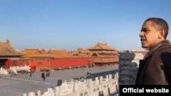 باراک اوباما در «شهر ممنوعه» پکن