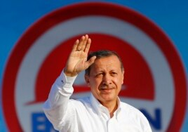 Turkish Prime Minister and presidential candidate Tayyip Erdogan