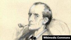 Sherlock Holmes illüstrasiya portreti