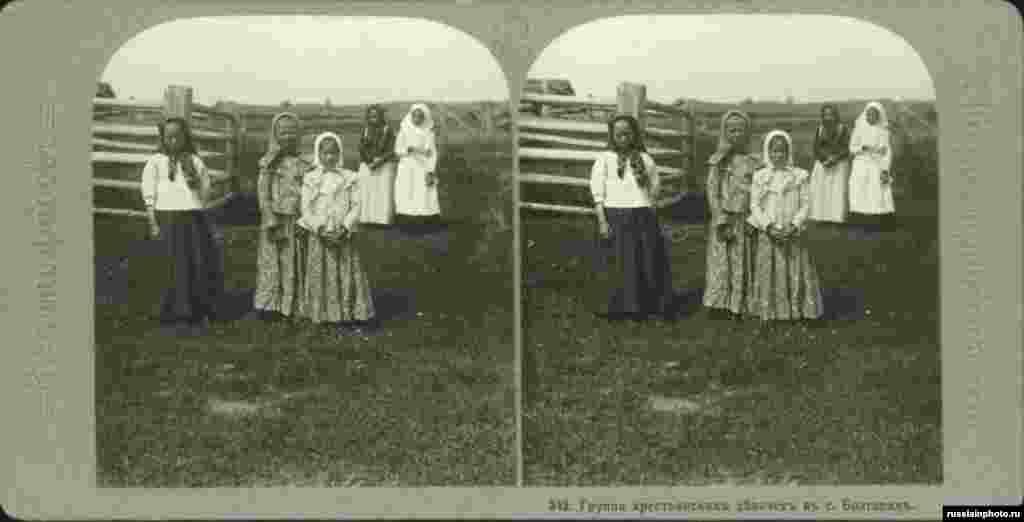 Болгар ауылындағы шаруа қыздарының суреті. 1913 жыл.