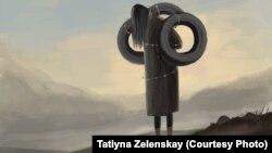 Сузактагы окуядан кийин тартылган сүрөт. Автору: Татьяна Зеленская.