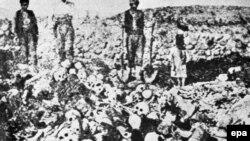 عکس از رویدادی که بسیاری آن را نسلکشی ارمنیها میخوانند.