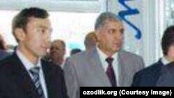 GM Uzbekistan kompaniyasi rasmiysi G'ayrat Niyozov (chapdan birinchi)