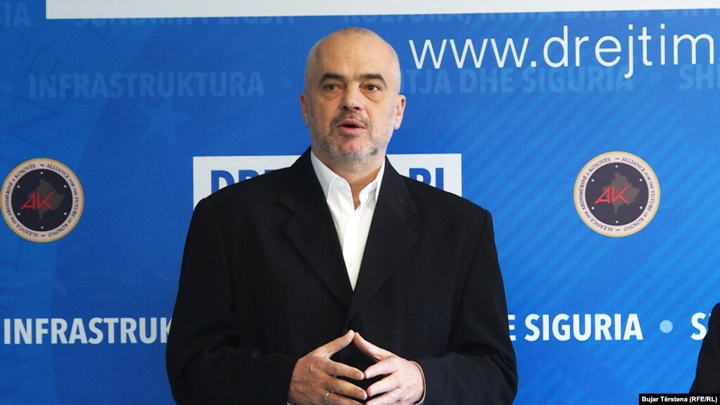 Albanian Prime Minister Edi Rama (file photo)