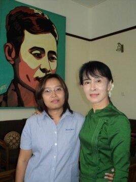 Зін Мар разам з Аун Сан Су Чжы