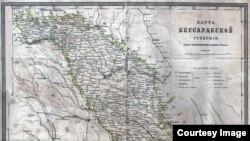 Harta Basarabiei ca gubernie rusă (Foto: Arhivele Naționale Istorice Centrale)