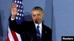 Экс-президент США Барак Обама, 20 января 2017 года.