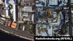 Забудова на Рибальському півострові у Києві