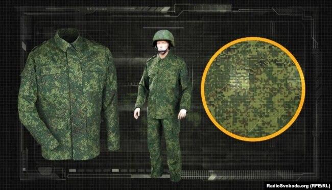Камуфляж форми російської армії, який називається «єдине маскуюче забарвлення»