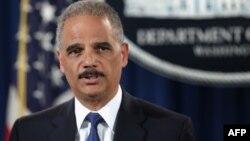 На снимке: генеральный прокурор США Эрик Холдер