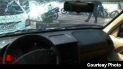 تصویری که خبرگزاری میزان از خودروی نماینده سبزوار منتشر کرده است