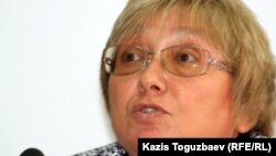 "Президент организации ""Перспектива"" Елена Бурова. Алматы, 25 октября 2011 года."