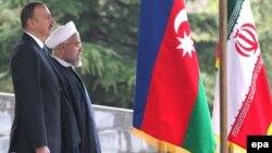 Իրանի նախագահ Հասան Ռոհանիի կողմից Ադրբեջանի նախագահ Իլհամ Ալիևի դիմավորման պաշտոնական արարողությունը, Թեհրան, 9-ը ապրիլի, 2014թ․