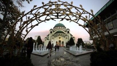 Hram svetog Save (na fotografiji) biće centralna tačka Putinovog obilaska glavnog grada Srbije