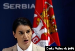 Serbian Prime Minister Ana Brnabic (file photo)
